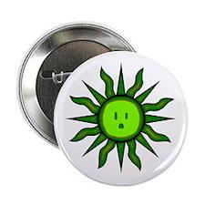 """Green Energy Sun 2.25"""" Button"""