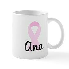 Ana pink ribbon Small Mug