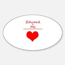 Edward and me Oval Decal