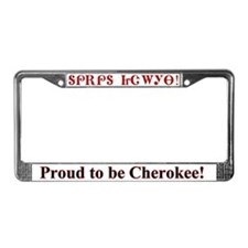 Proud Cherokee License Plate Frame