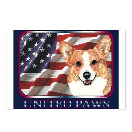 Welsh Corgi United Paws Postcards (Package of 8)