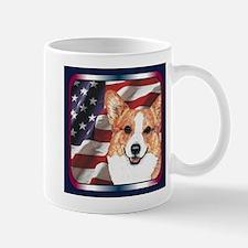 Pembroke Welsh Corgi USA Flag Mug