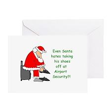 santa shoes Greeting Cards