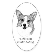 Pembroke Welsh Corgi Neutral Oval Decal