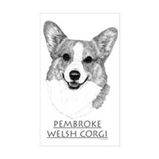 Pembroke Welsh Corgi Neutral Rectangle Decal