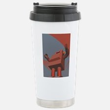 Retro Style Robot 3 Travel Mug