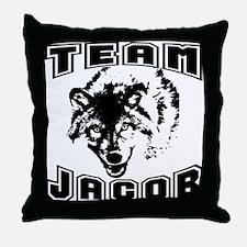 Team Jacob ~ Black Throw Pillow