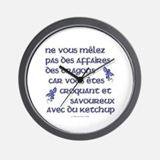 Affairs of French Dragons Wall Clock