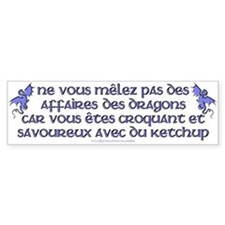 Affairs of French Dragons Bumper Bumper Sticker