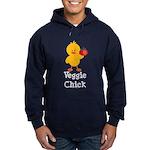 Veggie Chick Hoodie (dark)