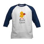 Veggie Chick Kids Baseball Jersey