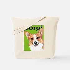 Pembroke Welsh Corgi Green Pop Art Tote Bag