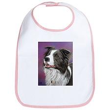Pastel Painting of Border Collie Dog Bib