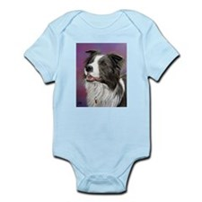 Pastel Painting of Border Collie Dog Infant Bodysu