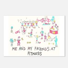 Funny Fitness Postcards (Package of 8)