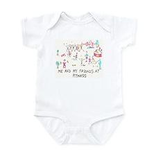 Cute Fitness Infant Bodysuit