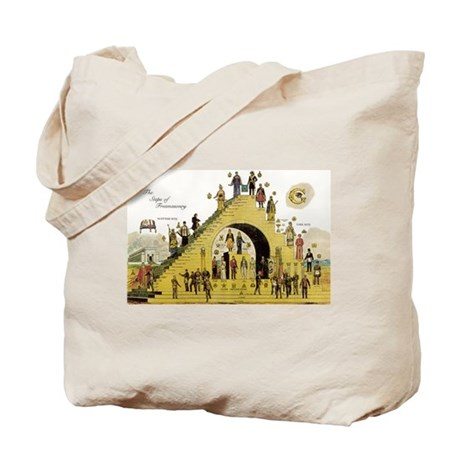 Steps of Freemasonry Tote Bag