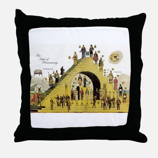 Steps of Freemasonry Throw Pillow