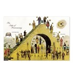 Steps of Freemasonry Postcards (Package of 8)