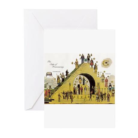 Steps of Freemasonry Greeting Cards (Pk of 10)
