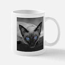 Siamese Cat B&W Photo Art Mug