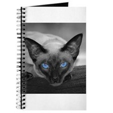 Siamese Cat B&W Photo Art Journal