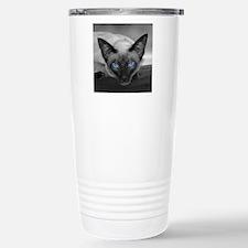 Siamese Cat B&W Photo Art Travel Mug