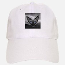 Siamese Cat B&W Photo Art Baseball Baseball Cap