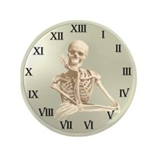 "13 Hour Skeleton Clock 3.5"" Button"