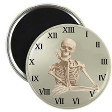 13 Hour Skeleton Clock Magnet