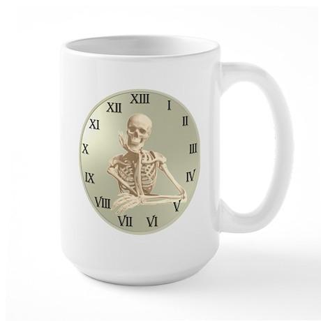 13 Hour Skeleton Clock Large Mug