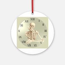 13 Hour Skeleton Clock Ornament (Round)
