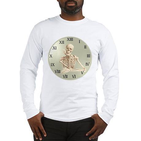 13 Hour Skeleton Clock Long Sleeve T-Shirt