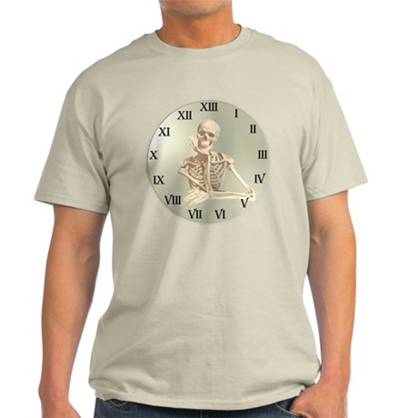 13 Hour Skeleton Clock Light T-Shirt