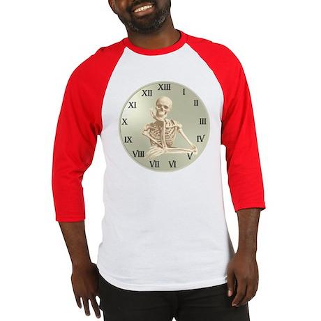 13 Hour Skeleton Clock Baseball Jersey
