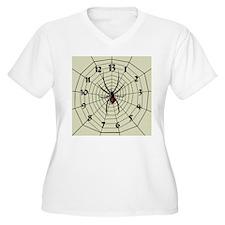 13 Hour Spiderweb Clock T-Shirt