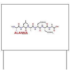Alanna name molecule Yard Sign