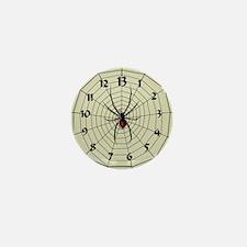 13 Hour Spiderweb Clock Mini Button