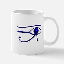 Blue Udjat Egyptian Eye Mug