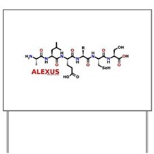 Alexus name molecule Yard Sign