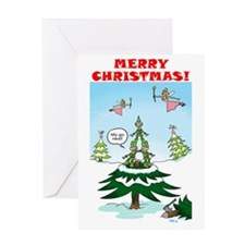 Naughty Elves Greeting Card