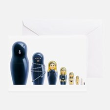 Fetish Russian Dolls Greeting Card