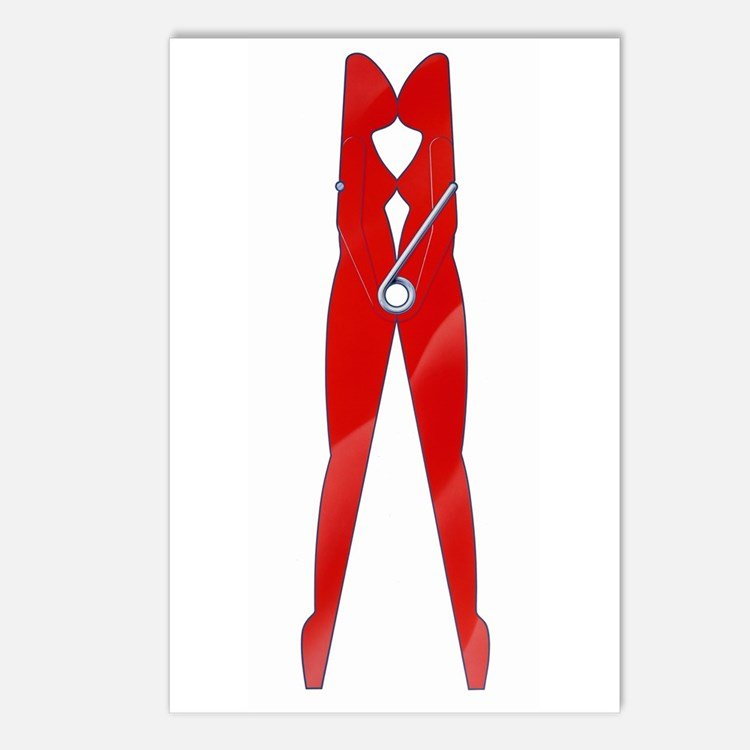 Fetish Clothes Pin Postcards (Package of 8)