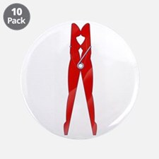 """Fetish Clothes Pin 3.5"""" Button (10 pack)"""