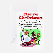 Cow Xmas Dreams Greeting Card