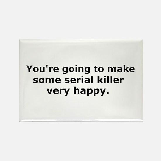 Serial Killer Rectangle Magnet