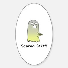 Scared Stiff Oval Decal