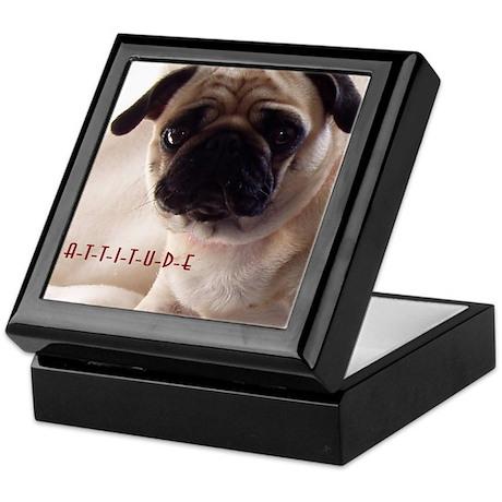Pug Attitude Keepsake Box