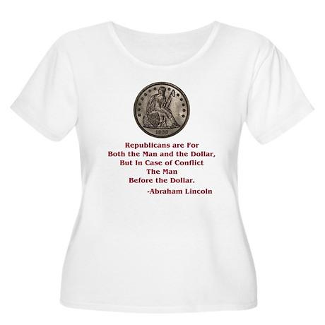 Seated Liberty Dollar -- Linc Women's Plus Size Sc