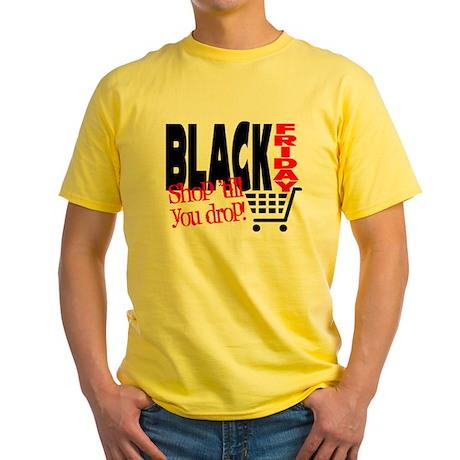 Black Friday Shopping Cart Yellow T-Shirt
